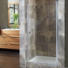 24 Frameless Shower Door Hazelwood Home Brock 24 5 X 65 Pivot Frameless Shower Door Wayfair