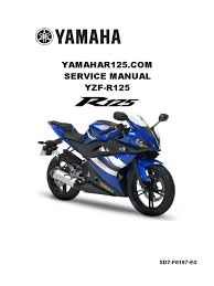 yamaha yzf r125 service manual 1 fuel injection carburetor