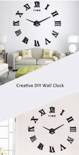large wall clock 3d mirror sticker metal big watches roman numeral large wall clock 3d mirror sticker metal big watches roman numeral scales diy home decoration modern