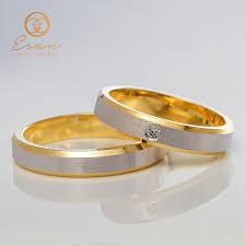 verighete cu diamant verighete din aur galben cu diamant 2mm esv151 verighete esan