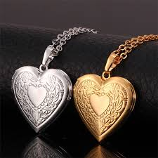 jewellery necklace vintage images Heart floating photo memory locket necklace women gold color jpg