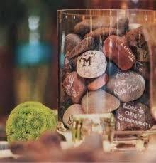 signing rocks wedding guest book wishing stones instead of a guest book use smooth river rock