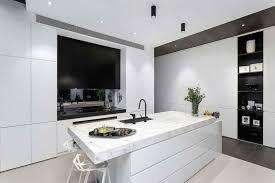 cuisine ultra moderne cuisine moderne avec ilot central 9 d233co noir et blanc dans