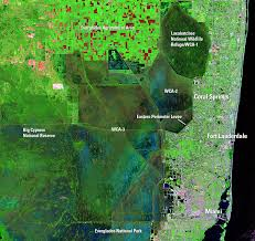 Florida Everglades Map by The Everglades And Miami Florida Usa Earthshots Satellite