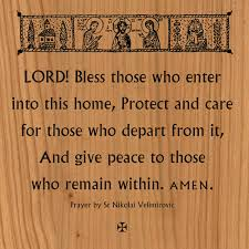 blessing for the home wood plaque bless those who enter ancient faith store