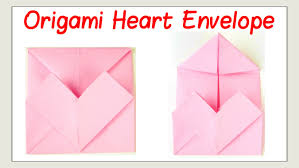 valentine u0027s day crafts how to fold an origami heart envelope