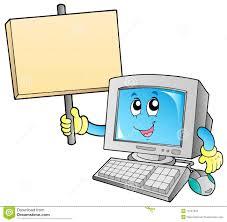 panneau de bureau ordinateur de bureau avec le panneau blanc illustration de vecteur