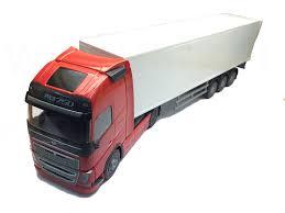 volvo trailer emek 81135 volvo fh box trailer truck red robbis hobby shop