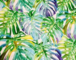 Hawaiian Curtain Fabric Tropical Fabric Etsy