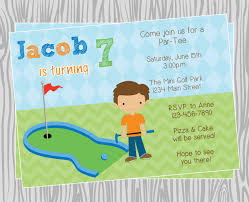 Invitation Card 7th Birthday Boy Golf Themed Birthday Invitations Ideas U2013 Bagvania Free Printable