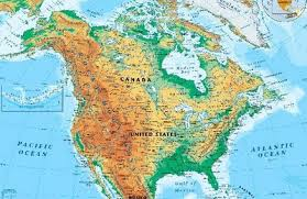 map of united states and canada maps america physical map