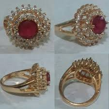 red stones rings images Id 139 red ruby stone crystal zircon rose gold plated ring jpg