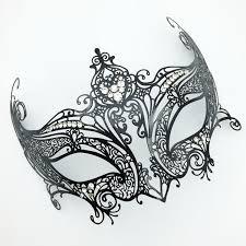 aliexpress com buy luxury diamond black metal mask carnival