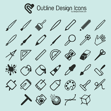 design icons free outline design icons at designcontest 174