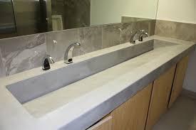 concrete slot drain style trough in a blue gray color trough