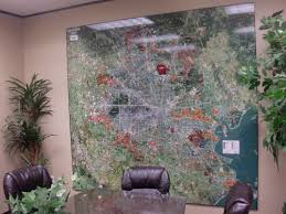 houston aerial wall map mural and digital imagery landiscor real 2015 houston aerial wall map mural in conference room