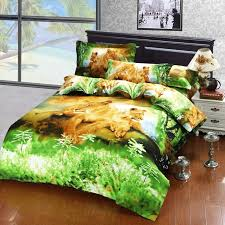 Cute Comforter Sets Queen Cute Animal Plant Oil Painting Bedding Bed Clothes Egyptian Cotton