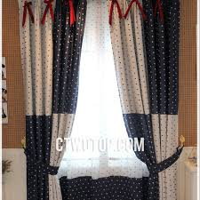 Shabby Chic White Curtains Polka Dot Blue White Modern Contemporary Shabby Chic Blackout