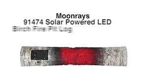Fire Pit Logs by Moonray U0027s 91474 Solar Powered Led Birch Fire Pit Log Youtube