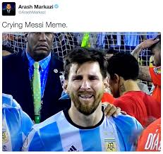 Messi Meme - crying messi meme tweet crying messi know your meme