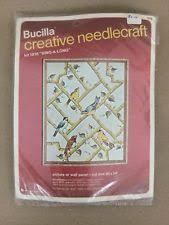 bucilla vintage crewel embroidery kits geese birds mountains lake