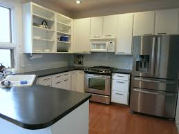 before and after diy kitchen renovation soapstone sequoia formica how to paint formica kitchen cabis