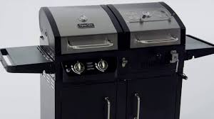 backyard grill gas grill review of dyna glo dgb730snb d premium dual fuel charcoal and lp