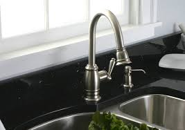 brushed nickel kitchen faucets premier 120111lf sonoma kitchen faucet with pull spout and on
