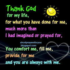 prayer thank god for my prayers for you