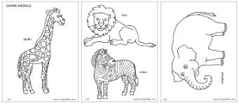 safari or african savanna animals printable templates u0026 coloring