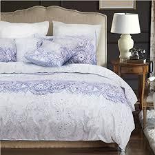 amazon com paisley duvet cover set purple gray grey pattern