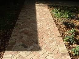 Herringbone Brick Patio Fancy Patterns Walton U0026 Sons Masonry Inc 30 Years Experience