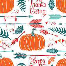 happy thanksgiving background vector free