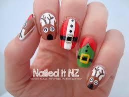 santa and friends nail tutorial 12 days of christmas nail art