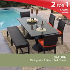 rectangular patio dining table outdoor dining table with bench