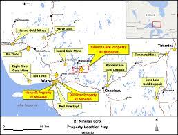 Gold Line Map Rt Minerals Corp Ballard Lake Property Map And Photo Gallery