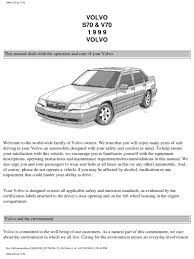 volvo s70 v70 owners manual 1999 airbag seat belt