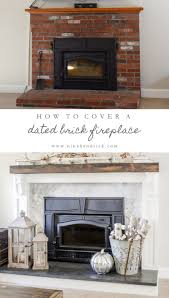 How To Build Fireplace Mantel Shelf - how to cover your brick fireplace modern farmhouse style