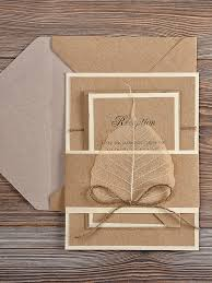 shabby chic wedding invitations recycling eco wedding invitation country wedding invitation