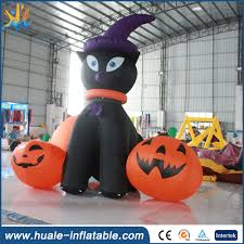 Giant Inflatable Halloween Cat Customized Inflatable Pumpkin Arch Customized Inflatable Pumpkin