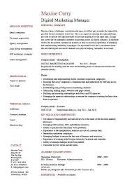 marketing manager resume digital marketing manager cv template exle