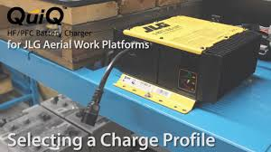 delta q quiq charger for jlg machines selecting a charge profile