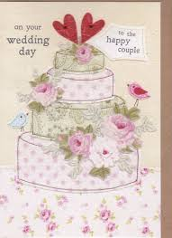 wedding cake online to the happy birds and cake wedding day card karenza paperie
