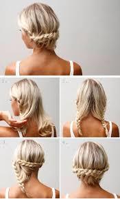 braid styles for thin hair easy braid chignon step by step hairstyles hairstyle tutorials