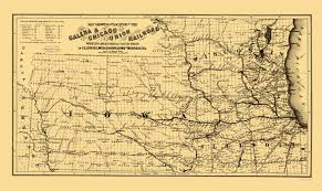 Map To Chicago by Old Railroad Map Galena And Chicago Union Railroad 1862