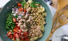 pasta salad with tuna tuna pasta salad with capers and chickpeas recipes noshon it