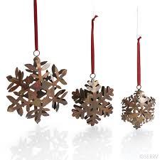 ornaments snowflakes trio ornaments
