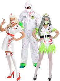 doctor halloween costume adults toxic nurse doctor costume mens ladies zombie dr halloween