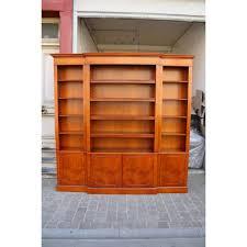 Break Front Bookcase Yew Open Top Breakfront Bookcase