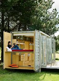 living in a shipping container home amys office